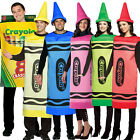 Crayola Fancy Dress Costume Box of Crayons Book Week Hat Gents Male Female Women