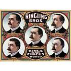NEW! Vintage Kings Of The Circus World Ringling Bros Poster Home Decor Wall Art