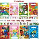 Childrens/Boys/Girls Party Bags with FREE Tattoos Birthday Fillers/Loot/Toy/Kids