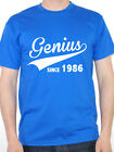 GENIUS SINCE 1986 - Birth Year / Birthday Gift / Novelty Themed Men's T-Shirt