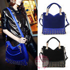 Korean Celeb Style Womens Ladies Rivet Tote Shoulder Messenger Handbag Hobo Bag