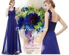 BNWT ELODIE Cobalt Blue Corsage Chiffon Prom Evening Bridesmaid Dress UK 8 -18