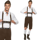 Mens Lederhosen Fancy Dress Costume - Oktoberfest German Beer Festival Bavarian