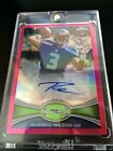 Russel Wilson, Chrome Pink rookie Auto 21/75