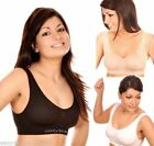 4 X SPORTS BRA SEAMLESS LEISURE SUPPORT VEST GYM TRAVEL FITNESS WEAR 4 IN A PACK