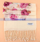 5 Colors New 100% Wool/Pashmina Scarf/Shawl Flowers Print Scarves Wraps