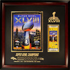 Super Bowl 48 XLVIII Program & Ticket Display Case - Select Finish