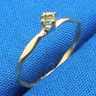 Peridot Baby Keepsake Ring Hand Crafted 14k gold August Birthstone size 00, 0, 1