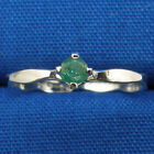 Emerald Baby Keepsake Ring, Hand Crafted Sterling Silver, May birthstone