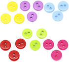 500 Acrylic 2 Holes Round Sewing Buttons Scrapbooking 9x2mm