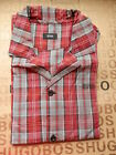 NEW HUGO BOSS RED CHECK LOUNGE PANT PYJAMA NIGHTWEAR CASUAL SUIT SHIRT TOP