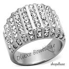 2.75 Ct Round Cut CZ Stainless Steel Wide Band Fashion Ring Women's Size 5-11