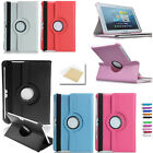 """360° Rotating PU Leather Case Cover Stand For Samsung/iPad Tablets 7.0/8.0/10.1"""""""