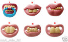 PINK BABY FUNNY DUMMY PACIFIER NOVELTY TEETH CHILD SOOTHER UK SELLER