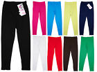 Girls Minx Quality Cotton Full Length Kids Plain Leggings 2-13 yrs NEW