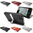 Slim Protective Media Stand Hard Phone Case, Cover Skin for Apple iPhone 4 4G 4S