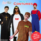 Mens Adult Fancy Dress Costumes Hawaiian,Prisoner Zombie,Sailor Man ALL IN ONE