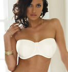 BNWT PANACHE EVIE IVORY STRAPLESS SUPERBRA - UNDERWIRED WITH OR WITHOUT STRAPS