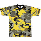 Adult T-Shirt  Stinger Yellow Camouflage Fashion Camo Tee Shirt