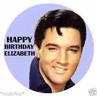 "ELVIS PRESLEY 20 x 2"" / Large 7.5"" Edible Cake Toppers - Rice Paper PERSONALISED"