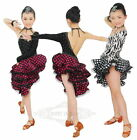 Fashion Child Girl A Sleeve Cha Cha Tango Salsa Ballroom Latin Dress Dancewear