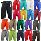 Men's BTL Cargo Shorts With Belt Cotton Twill 18 Colors Size