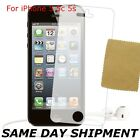 APPLE IPHONE 5 5C 5S CLEAR FRONT SCREEN PROTECTOR LCD FILM FOIL GUARD CLOTH