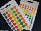 350 8mm or 140 13mm Dots Stickers Coloured Chart Planner Labels Price Code Tag