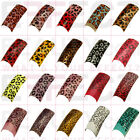 Cheetah Acrylic PreDesigned Nail Tips Gel Manicure UK Seller Fast Postage