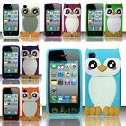 For iPhone 4/4S 3D Baby Owl Design Silicone Case Cover