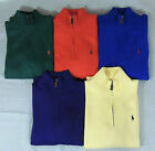 Men Polo Ralph Lauren 1/2 Half Zip Pullover Pony Sweater Knit Jumper S M XL XXL