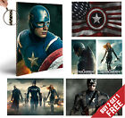 CAPTAIN AMERICA MOVIE POSTERS * Marvel Superhero A4 Print Wall Art Gift for Fans