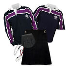 Kilt Outfit 'Sports Essential' - Purple Stripe Rugby Top - Black