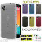 CUSTODIA COVER ULTRA SOTTILE 0.3mm LG GOOGLE NEXUS 5 TRASPARENTE OPACA SLIM  HQ!