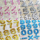 Numbers Color Rhinestone Scrapbooking Phone Computer Shiny Sparkle Stickers OT04