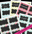 ChalkBoard Vinyl 12 Labels Jar, Gift, party tag Washable : various designs