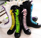 PUNK Gothic Black/White Canvas sneakers boots knee high