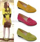 Womens Ladies Faux Suede Round Toe Slip On Boat Deck Loafers Pumps Shoes B-69