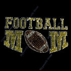 "Rhinestone Transfer "" FOOTBALL MOM ""  Iron On, Hotfix, PICK YOUR TEAM COLOR"