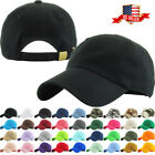 Solid Plain Washed Cotton Polo Style Baseball Ball Cap Hat 100% Cotton NEW
