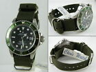 Black Olive Green NYLON WATCH BAND INFANTRY MILITARY Army STRAP 4 Rolex 20 18 mm