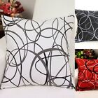 2X Black White Red Irregular lines Bed Sofa Pillow Case Pillowcase Cushion Cover