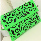 Womens clutch bag hollow out carved patterns handbag envelope shoulder bag totes
