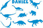 Personalised Dinosaur wall art 3 sizes Boys bedroom vinyl decal sticker