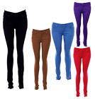 LADIES WOMENS COLOURED SKINNY FIT DENIM JEANS STRETCHY SIZE 6 8 10 T0 16