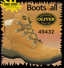 Oliver Steel Toe Work Boots WOMENS 49432 Wheat Lace Up Boot  Brand new!!!