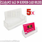 5 X BRAND NEW ACYRIC BUSINESS CARD HOLDERS COUNTER TOP DESK DISPLAY DISPENSERS
