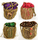 Beaded Potli Pouch Bag Draw String Party Prom Evening Indian Wedding Handbag