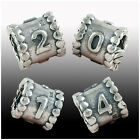 925 Sterling Silver Number SeriesI Beads Group fit European Charms Bracelet