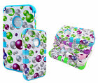 For iPhone 4S 4 3-Piece Hybrid Case Cover Rainbow Bubbles Silicone Case